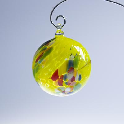 Boule de Noël ; Coloris Jaune, Vert, Rouge, Bleu, Blanc
