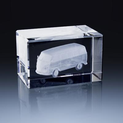 Bloc Horizontal 8x5x5cm Voiture VW Combi