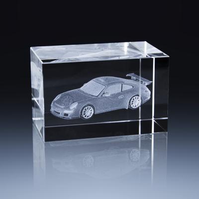 Bloc Horizontal 8x5x5cm Voiture Porsche