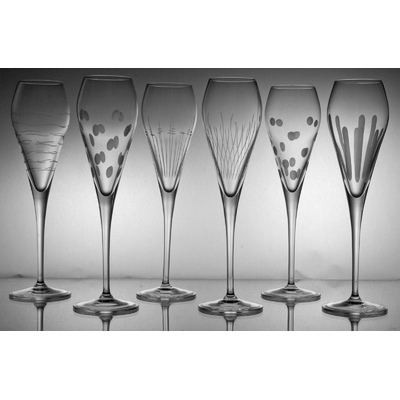 6 flûtes Prosecco taille moderne