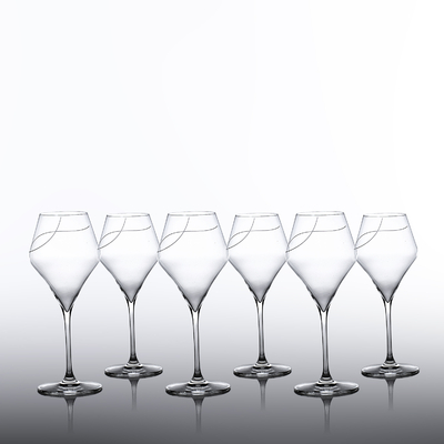 6 verres  Oenologie Vin Rouge Taille Spirale
