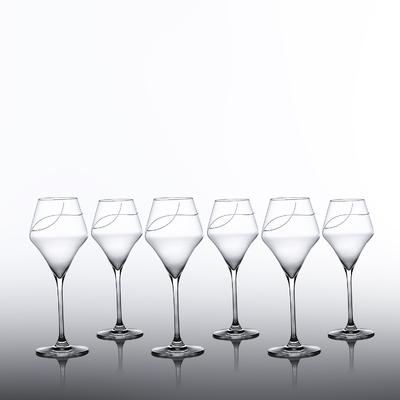 6 verres Oenologie Vin Blanc Taille Spirale