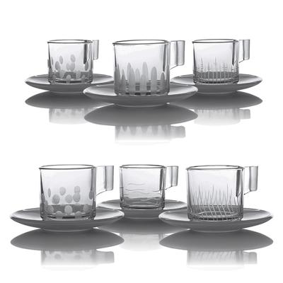 6 tasses Expresso Taille Moderne