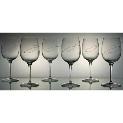 6 verres Palace Vin Blanc Taille Spirale