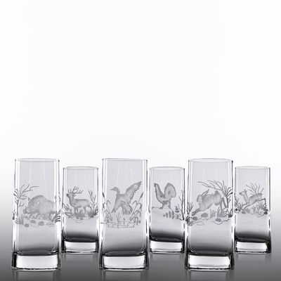 6_verres_veronnes_chope_haute_taille_chasse_x6