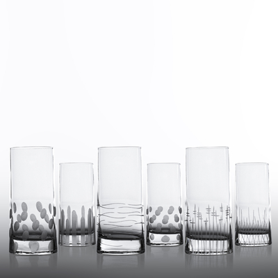 6 verres vérone chope Haute Taille Moderne
