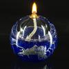 Lampe à huile bleu/argent