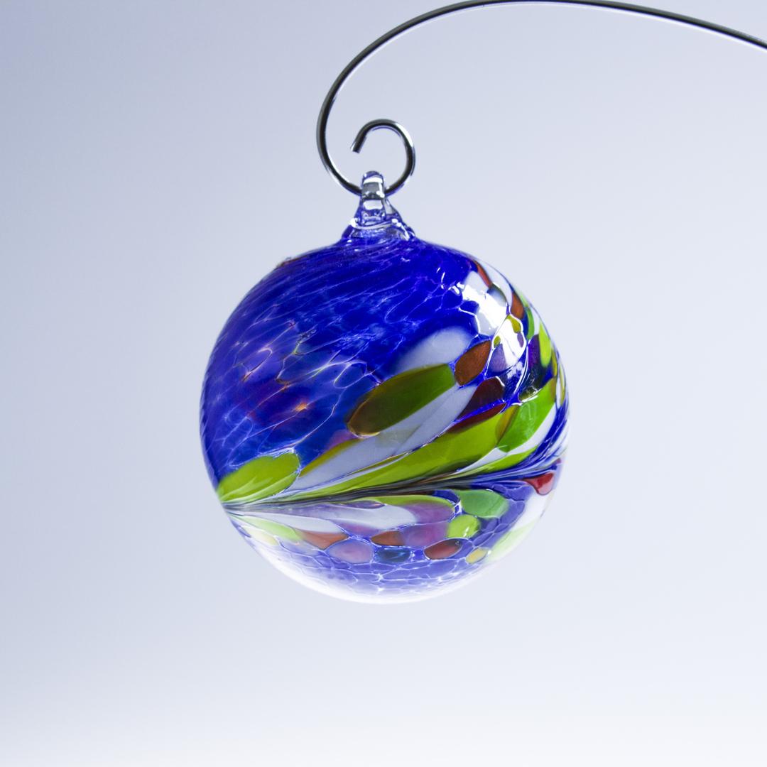 Boule de no l coloris bleu vert d corations boules de no l cristal lehrer - Decoration boule de noel ...