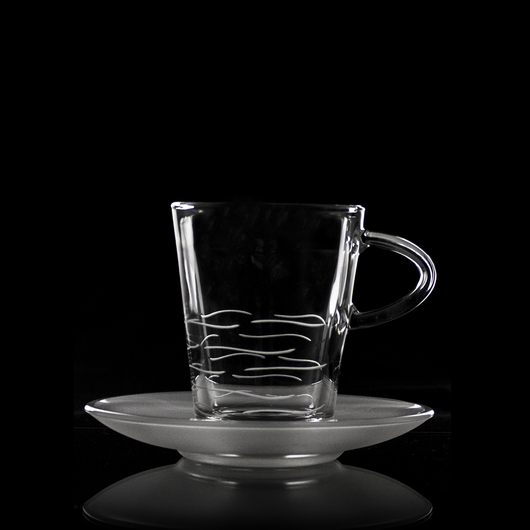 6 tasses caf taille moderne art de la table services de boissons chaudes cristal lehrer. Black Bedroom Furniture Sets. Home Design Ideas