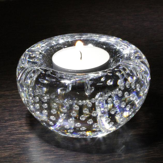 bougeoir cristal transparent art verrier bougeoir cristal lehrer. Black Bedroom Furniture Sets. Home Design Ideas