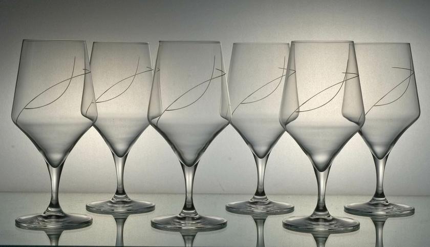 6 verres bi re taille spirale coffrets de verres - Coffret verre a biere ...