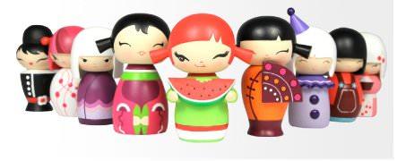 Lulu shop Poupée Japonaise Kokeshi Momiji Randoms-dolls copie