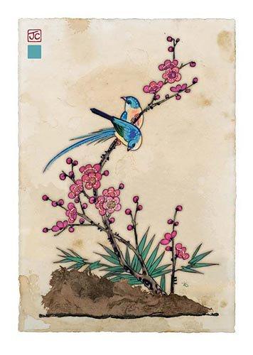 Bug Art Deux Oiseaux Bleus Lulu Shop