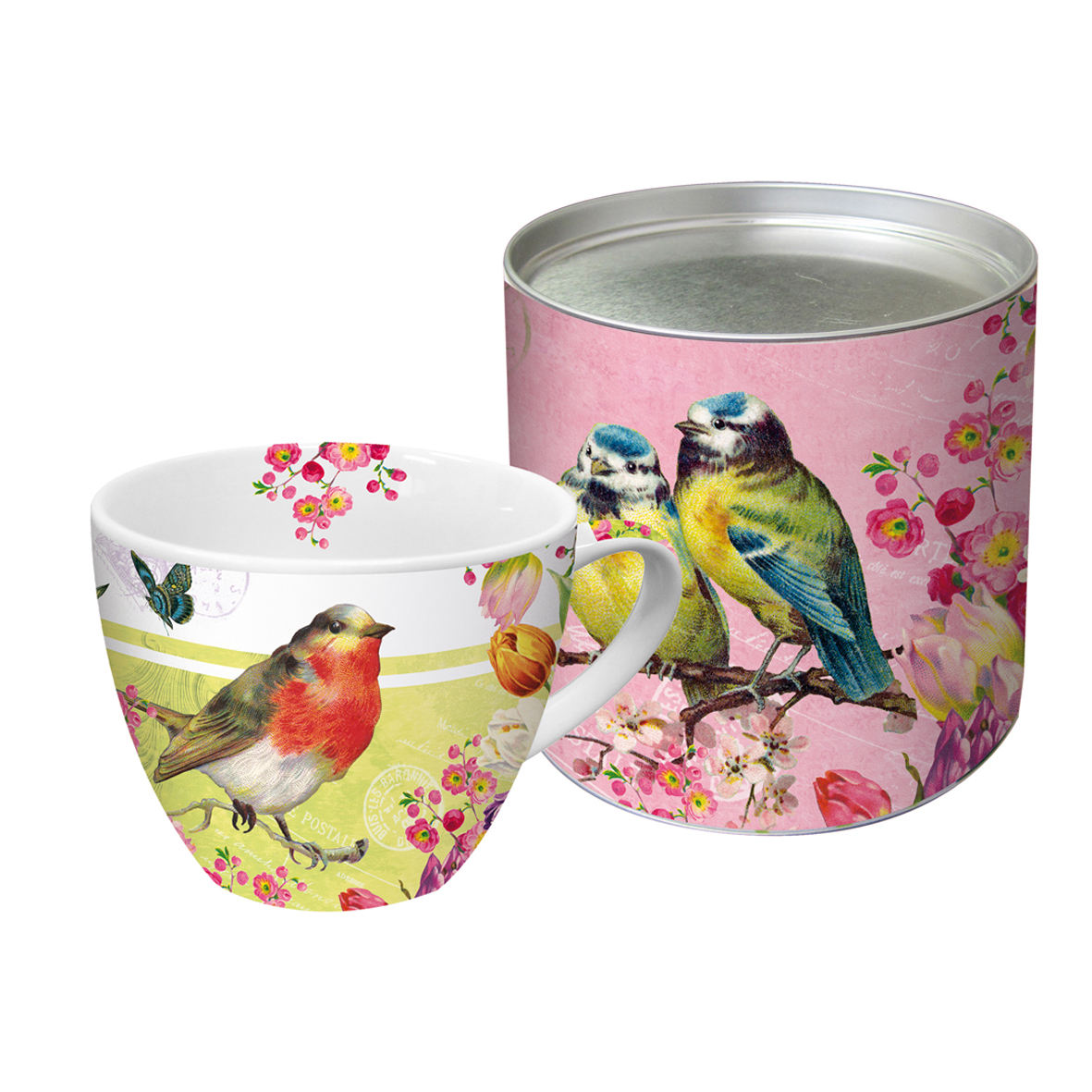 grand mug en porcelaine oiseau jaune art de la table mug tasse lulu shop. Black Bedroom Furniture Sets. Home Design Ideas