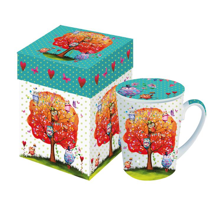 mug en porcelaine hiboux art de la table mug tasse lulu shop. Black Bedroom Furniture Sets. Home Design Ideas