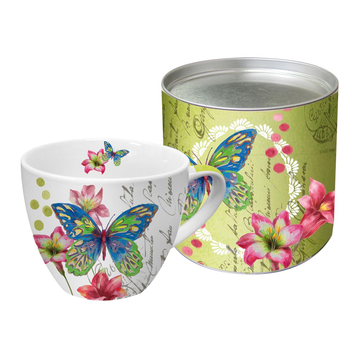 grand mug en porcelaine papillon art de la table mug tasse lulu shop. Black Bedroom Furniture Sets. Home Design Ideas