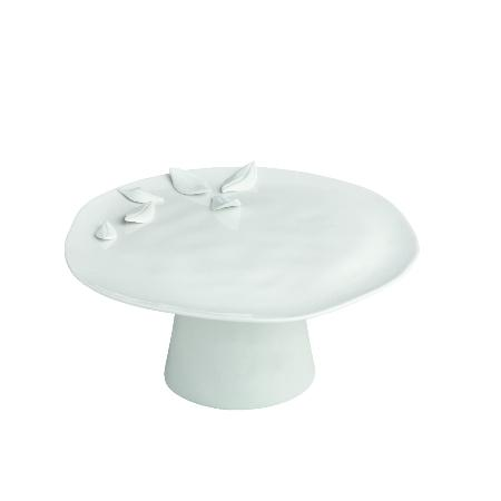 plateau g teau sur pied feuilles art de la table plateau dessert lulu shop. Black Bedroom Furniture Sets. Home Design Ideas