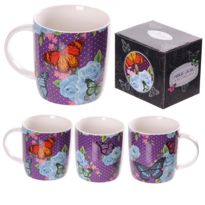 www.lulu-shop.fr Mug Chintz - Design papillons et fleurs - MUG166 - 1