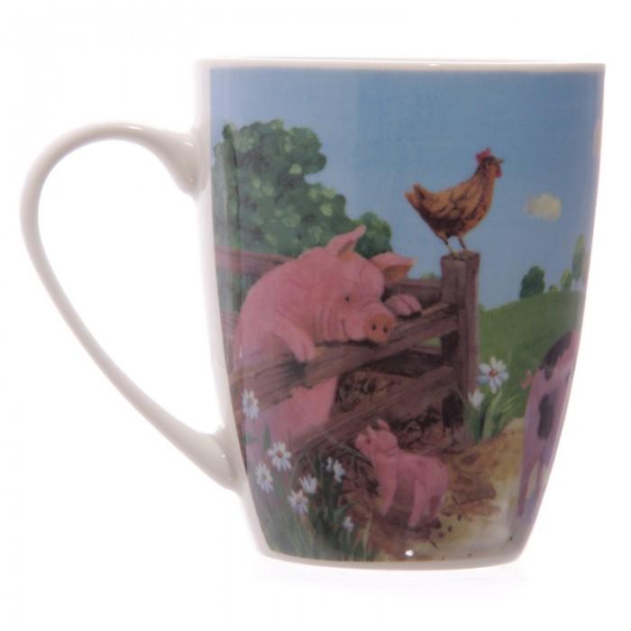 www.lulu-shop.fr Mug En Porcelaine Cochons Dans La ferme Par Jan Pashley - MUG139 - 3
