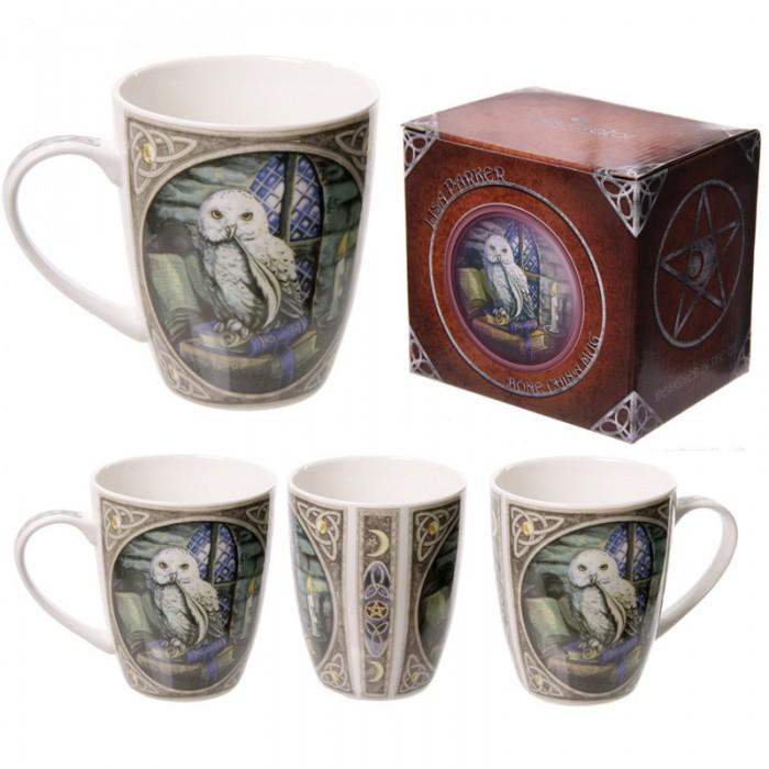 www.lulu-shop.fr Mug En Porcelaine Dessin Chouette Par Lisa Parker - MULP08 - 1