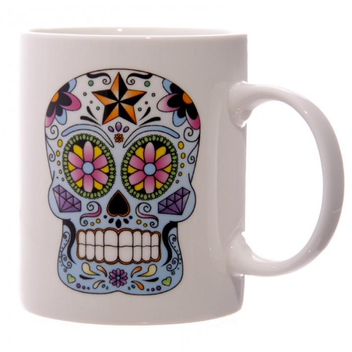 www.lulu-shop.fr Mug En Porcelaine Jour Des Morts Méxicains Par Lauren Billingham MUG126 - 5
