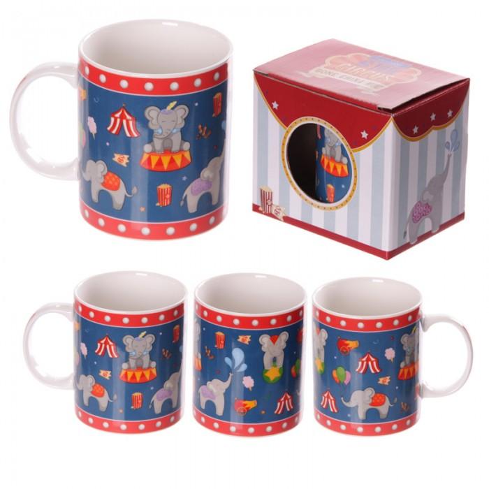 www.lulu-shop.fr Mug en porcelaine tendre - Éléphants du cirque MUG170 - 1