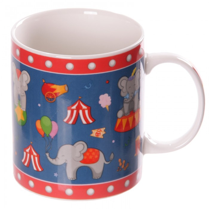 www.lulu-shop.fr Mug en porcelaine tendre - Éléphants du cirque MUG170 - 2