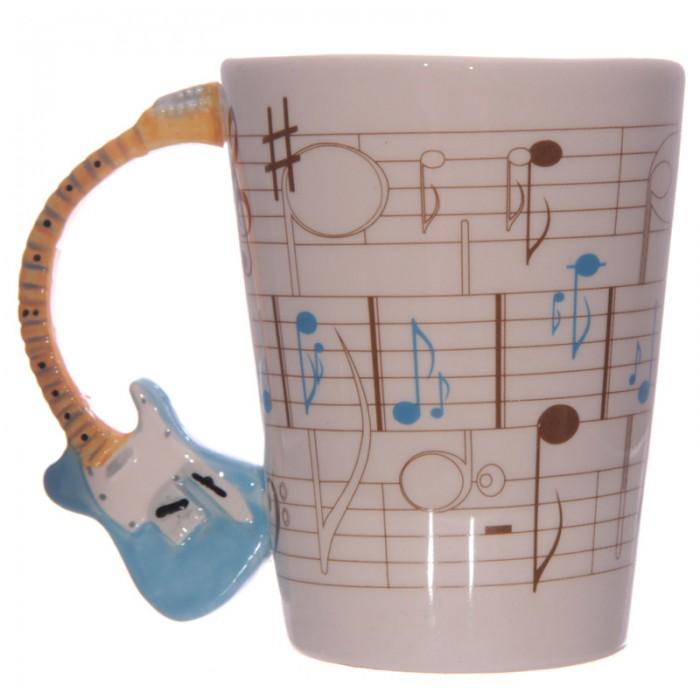 www.lulu-shop.fr Mug Partitions - Anse Guitare bleue Par Ted Smith MUG104 - 1