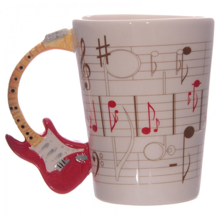 www.lulu-shop.fr Mug Partitions - Anse Guitare rouge Par Ted Smith MUG104 - 1