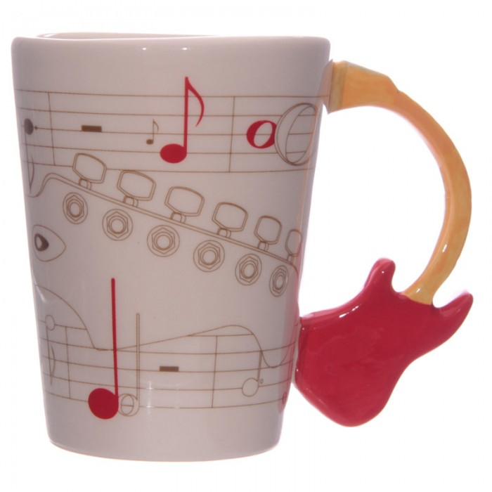www.lulu-shop.fr Mug Partitions - Anse Guitare rouge Par Ted Smith MUG104 - 2