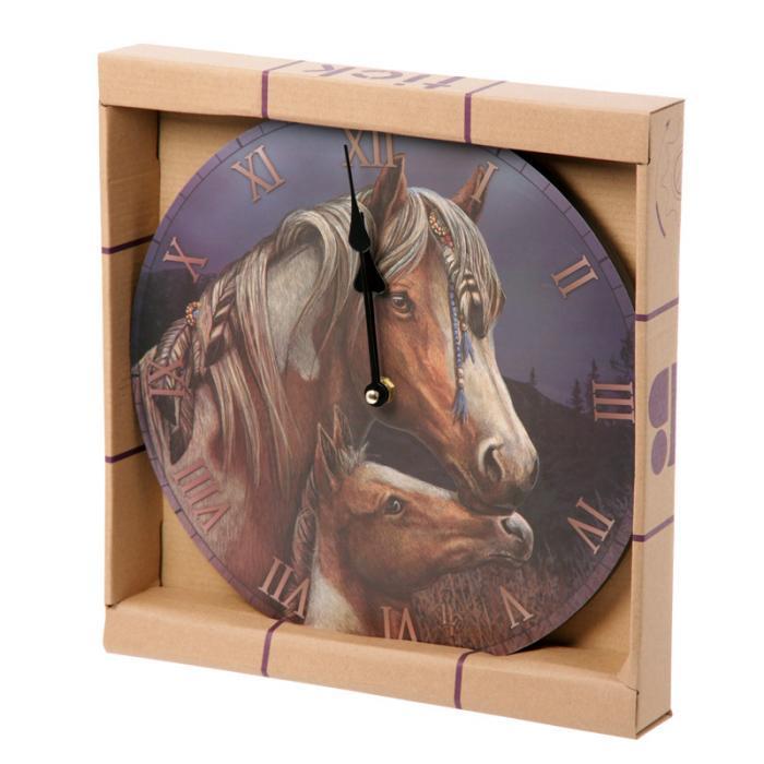 Horloge cheval Apache par Lisa Parker Lulu Shop 2