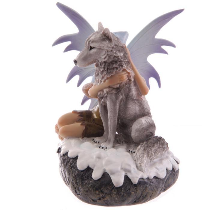 Fée des neiges avec loup de compagnie- Collection Mystic Realms Lulu Shop 2