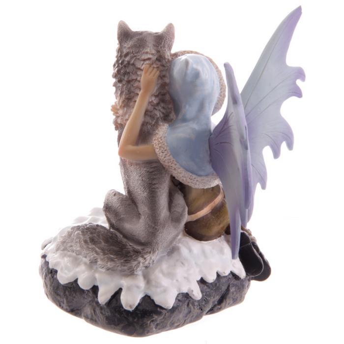 Fée des neiges avec loup de compagnie- Collection Mystic Realms Lulu Shop 3