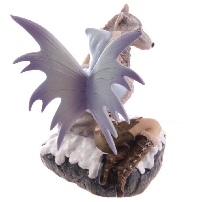 Fée des neiges avec loup de compagnie- Collection Mystic Realms Lulu Shop 4