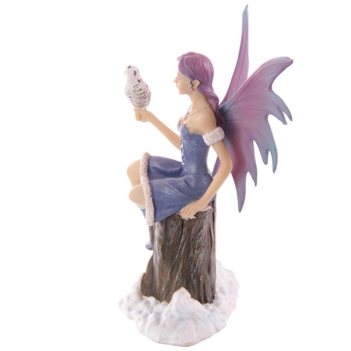 Fée assise avec chouette - Collection Mystic Realms Lulu Shop 2