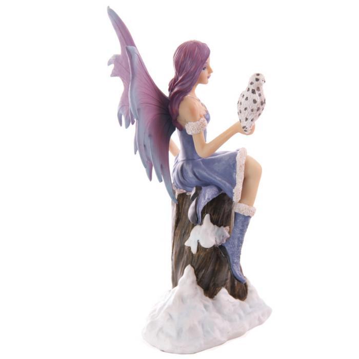 Fée assise avec chouette - Collection Mystic Realms Lulu Shop 4