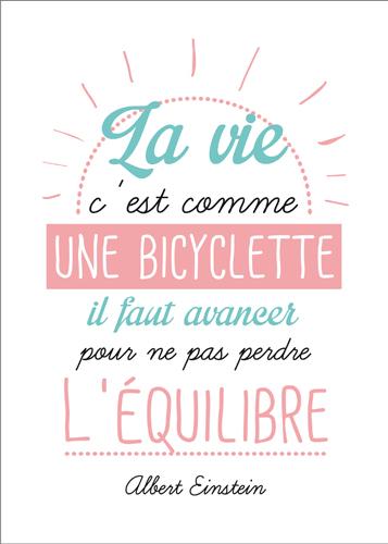 Carte Postale  La vie c'est comme une bicyclette il faut avancer pour ne pas perdre l'équilibre Lulu Shop