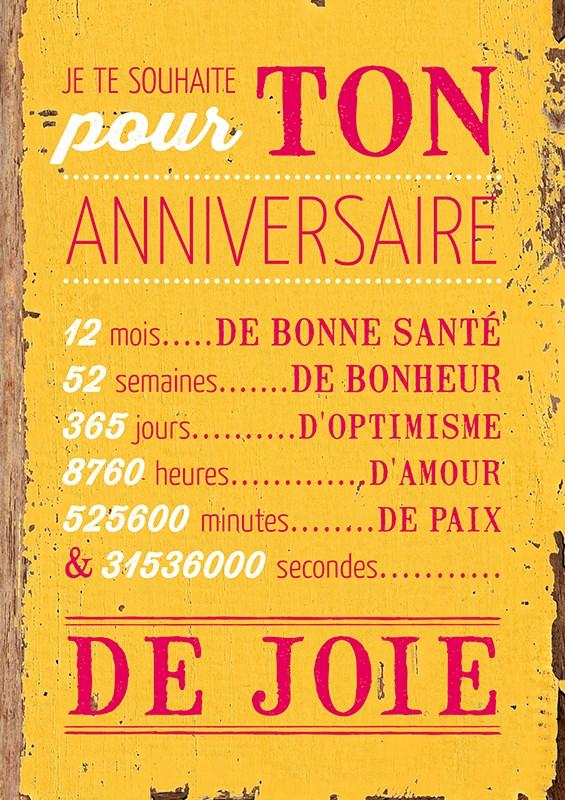 Carte Postale  Pour ton anniversaire lulu Shop