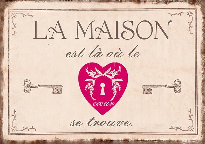 Carte Postale  La maison est là où le cœur se trouve  lulu Shop