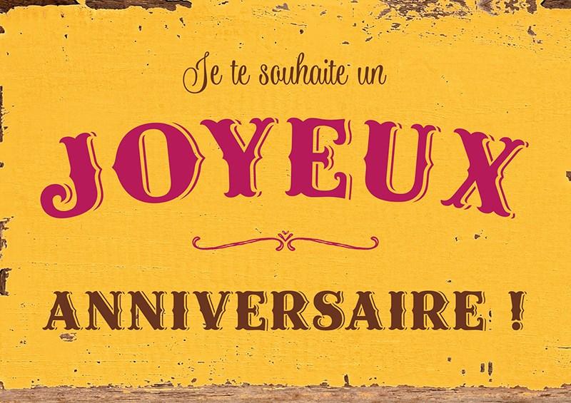 Carte Postale Je te souhaite un Joyeux anniversaire ... Lulu Shop