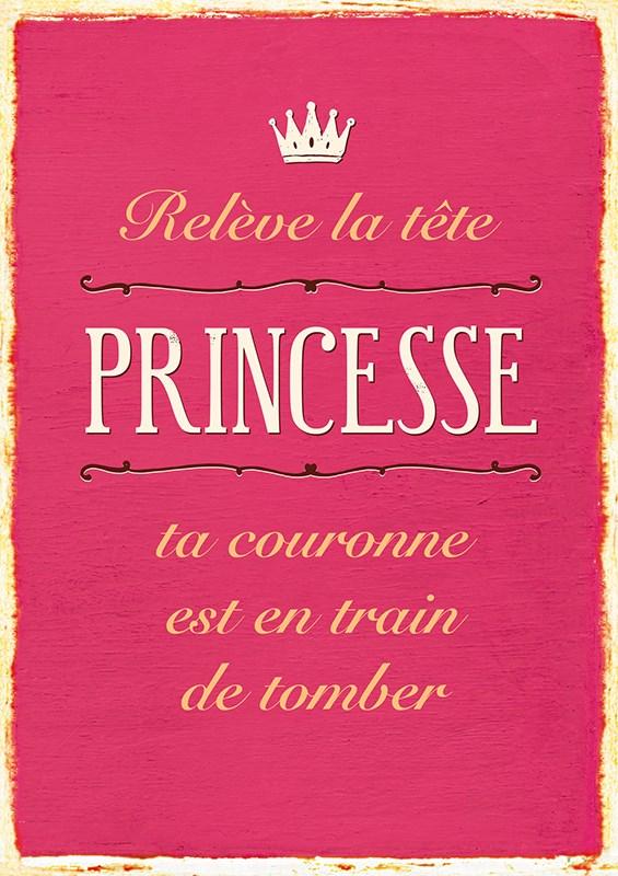 Carte Postale Relève la tête princesse ta couronne est en train de tomber ... Lulu Shop
