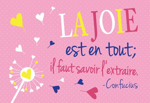 Carte Postale La joie est en tout; il faut savoir l'extraire... Lulu Shop