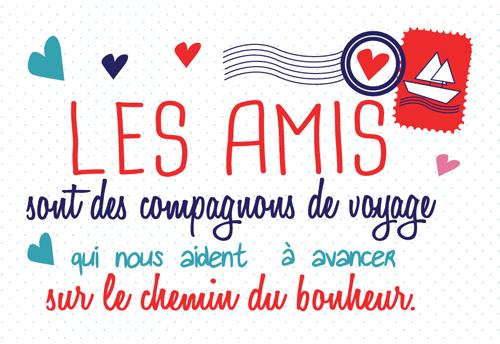 Carte Postale  Les amis sont des compagnons de voyage qui nous aident.... Lulu Shop