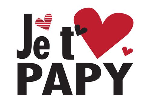 Carte Postale  Je t'aime Papy Lulu Shop