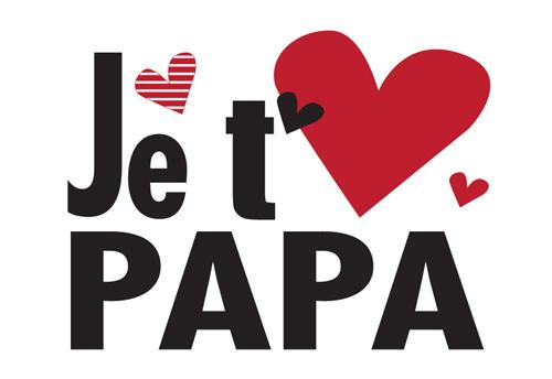 Carte Postale  Je t'aime papa Lulu Shop
