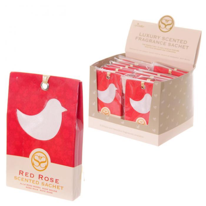 Sachets parfumés à la rose rouge - Motif oiseau lulu shop 3