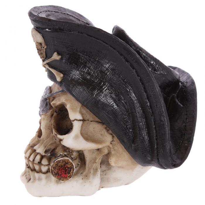 Crâne décoratif pirate avec cigare Lulu Shop 2