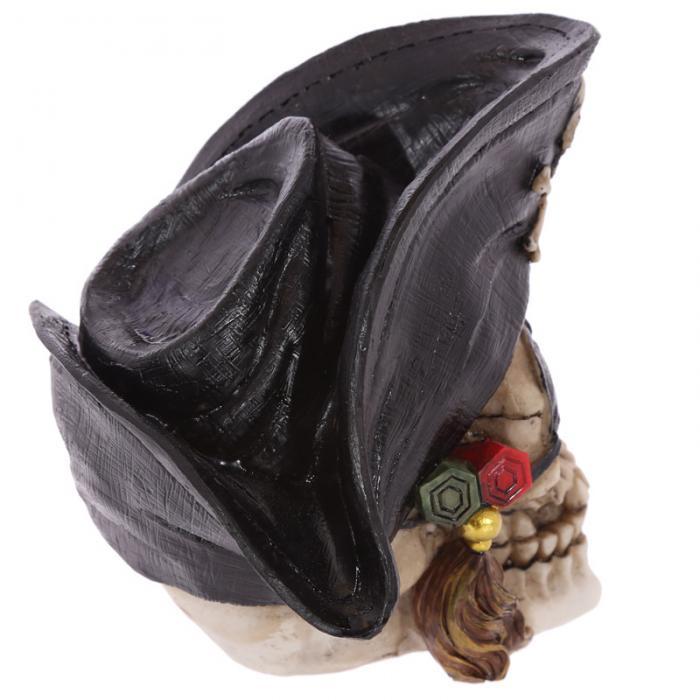 Crâne décoratif pirate avec cigare Lulu Shop 4