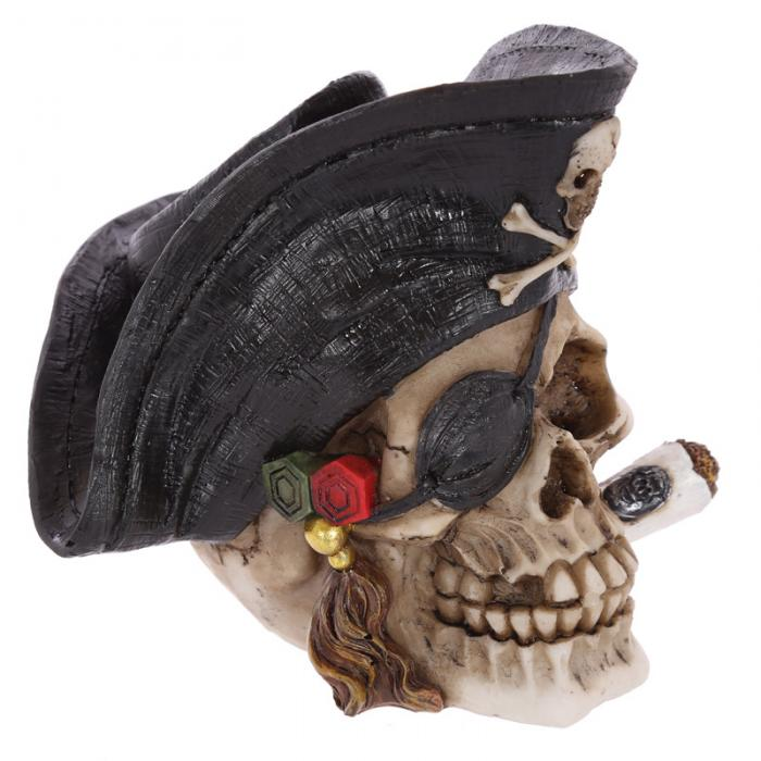 Crâne décoratif pirate avec cigare Lulu Shop 5