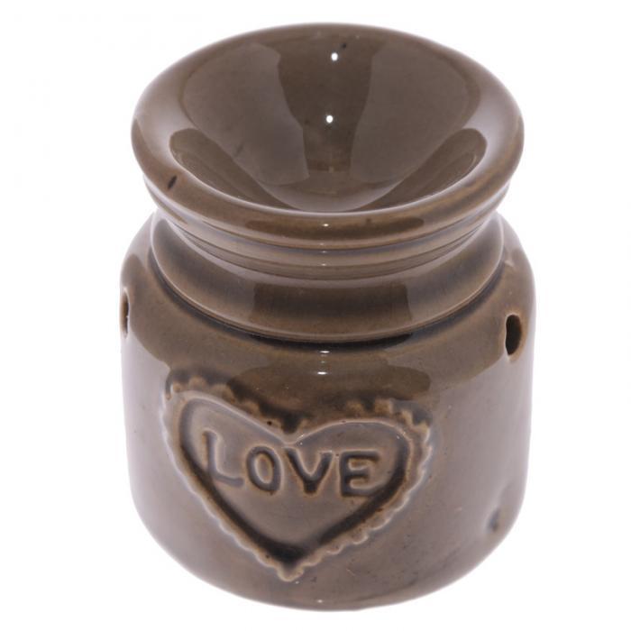 Petit brûleur à huile en céramique en forme de bocal motif Love Lulu Shop 4